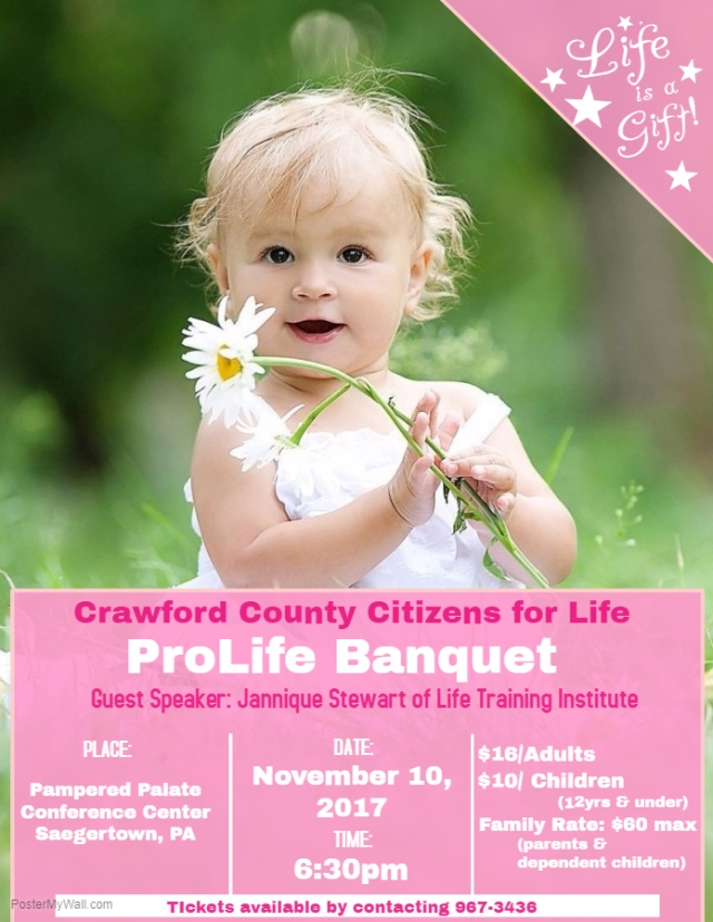 2017 Pro-Life Banquet Poster
